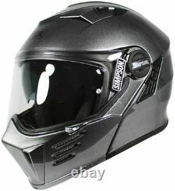 Simpson Darksome Gunmetal Motorcycle Helmet Large