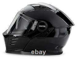 Simpson Darksome Mod Bandit Helmet Road Legal Gloss Black Internal Visor UK Med