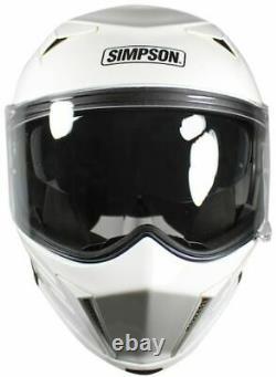 Simpson Darksome White Motorcycle Helmet Medium