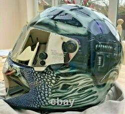 Simpson Diamondback Bandit Helmet 1 off paint job Predator Stig car racing bike