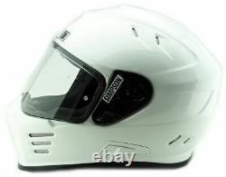 Simpson Ghost Bandit Venom Helmet Road Legal GLOSS Black Internal Visor UK