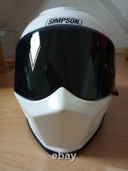 Simpson Ghost Bandit Venom Helmet Road Legal White Black UK Size Medium