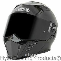 Simpson Mod Bandit Motorcycle Helmet DOT All Sizes / Carbon Fiber