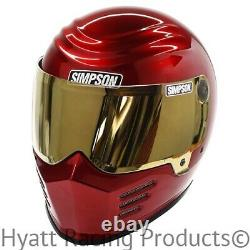 Simpson Outlaw Bandit Candee Red Motorcycle Helmet Snell M2015 All Sizes