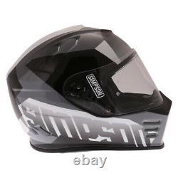 Simpson Venom Army Gloss White Grey Full Face Motorcycle Crash Helmet LID Size M