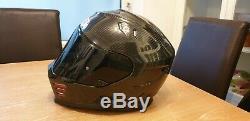 Simpson Venom CARBON Helmet Medium With Dark & Mirror Visors Pinlock Included