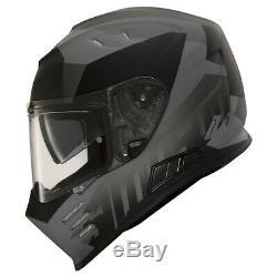 Simpson Venom Full Motorcycle Motorbike Full Face Helmet Mat Army Black / Grey