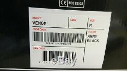 Simpson Venom Full Motorcycle Motorbike Full Face Helmet Mat Army Black/Grey M