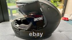 Simpson Venom Solid Matt Black XL Motorcycle Motorbike Helmet With Extra Visor