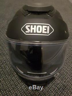 Size 55-56 small SHOEI GT AIR MATT BLACK MOTORCYCLE BIKE SPORTS TOURING HELMET