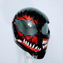 Spider man / venom custom motorcycle helmet ECE and DOT 1/1 free shipping