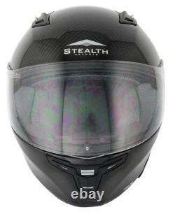 Stealth Full Carbon Fibre Full Face Inner Sun Visor Motorcycle Track Road Helmet