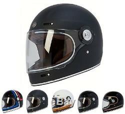 TORC T1 Retro Full Face Motorcycle Fiberglass Vintage Helmet DOT ECE 22.05