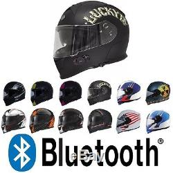 TORC T14B Mako Bluetooth Full Face Motorcycle Dual Visor Helmet DOT ECE NEW