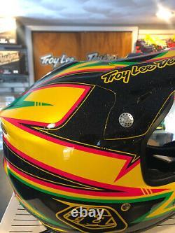 Troy Lee Designs Air Charge Offroad MX Dirt Bike Helmet Yellow Black Medium