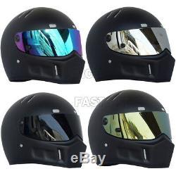 Unisex Adult Motorcycles Street Racing Bandit Fiberglass Full Face Helmet DOT