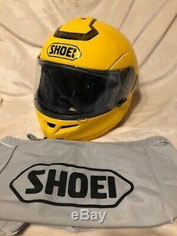 VERY NICE Shoei Multitec Full Face Yellow Motorcycle W-3 Helmet Size Medium M
