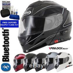 Vcan Blinc V271 Bluetooth Flip Front Motorcycle Motorbike Helmet Mp3 Sat Nav