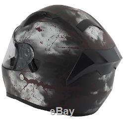 Vcan V128 Rage Skull Demon Monster Motorcycle Full Face Helmet Dual Visor
