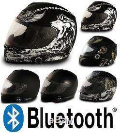 Vcan V136B Blinc Bluetooth Full Face Motorcycle Helmet DOT GPS Intercom MP3
