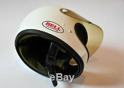 Vintage 1970 Bell Star Toptex Motorcycle Helmet Size 7-full Face With Visor