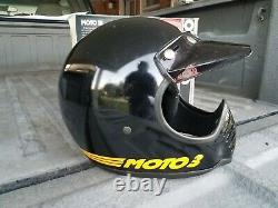 Vintage 1975 Bell Moto III 3 Motorcycle Dirt Bike Helmet With Original Box