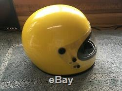 Vintage 70s 1975 BELL STAR 120 Toptex Full Face Motorcycle Helmet with shield sm