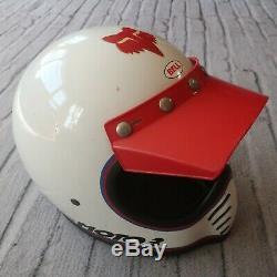 Vintage Bell Moto Star 3 III Motorcycle Full Face Helmet 1975 SNELL 7 1/2 70s