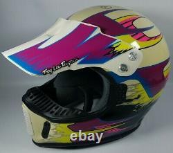 Vintage Bell Moto Troy Lee Designs Aero-2 Visor Helmet 7 3/8 Retro Motorcycle
