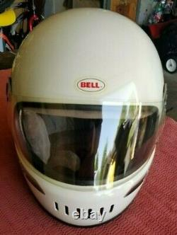 Vintage Bell Star Ltd II Limited 2 white Full Face Motorcycle Helmet 7-1/2