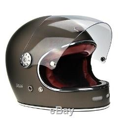 Viper F656 Fibreglass Retro Full Face Motorbike Motorcycle Helmet Free Neckwarm