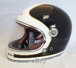 Viper F656 Retro Vintage Retro Fibreglass Full Face Motorbike Motorcycle Helmet