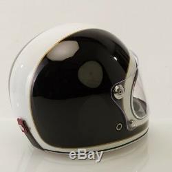 Viper F656 Vintage Retro Fibreglass Full Face Motorbike Motorcycle Helmet