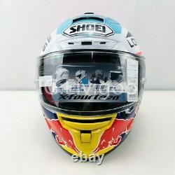 X 14 Motorcycle Full Face Helmet Red Bull Marquez 93 Motorbike Moto GP Helmet