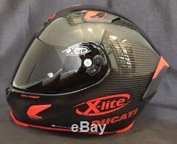 X-Lite X803 CARBON Puro Sport Gloss Motorbike Helmet with DUCATI Stickers