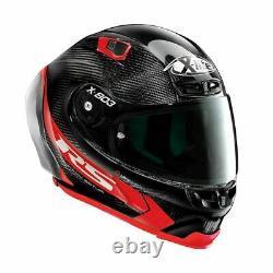 X-Lite X803 RS Red Carbon HOT LAP Removable Spoiler Motorbike Helmet WQ