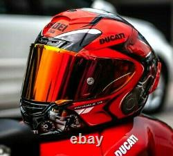 X14 Motorcycle Full Face Helmet DUCATI RED MOTO GP Racing Motorbike X Spirit 3