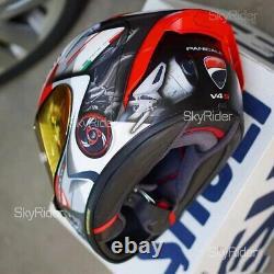 X14 X-Spirit 3 Motorcycle Full Face Helmet Marquez Moto GP Helmet Ducatii V4 S