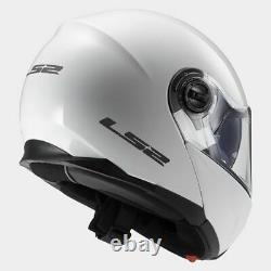 XL Flip up chin guard LS2 Strobe Full Face Road Motorbike Helmet White