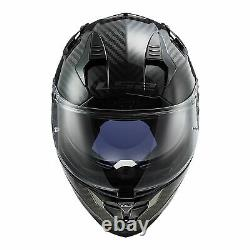 XL LS2 Lightweight Carbon Fibre Challenger Full Face Road Motorbike Helmet