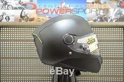 XL Shark Skwal LED Light Up Street Full Face Motorcycle Helmet Matte Black