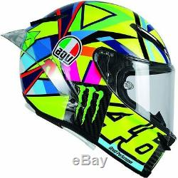 #rossi #qatar 2017 #motogp Agv Pista Gp-r #soleluna #monster #vr46 Crash Helmet
